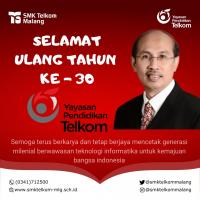 Selamat Hari Jadi Ke-30 Yayasan Pendidikan Telkom